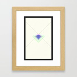 Paper Diamonds Framed Art Print