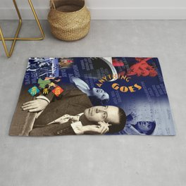 Cole Porter Collage Portrait Rug