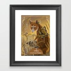 solar owls ceres  Framed Art Print