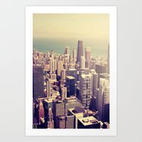 metropolis Art Prints featuring Metropolis by farsidian