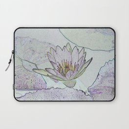 Waterlily Abstract Laptop Sleeve