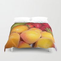 fruits Duvet Covers featuring Fruits by EnelBosqueEncantado