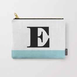 Monogram Letter E-Pantone-Limpet Shell Carry-All Pouch