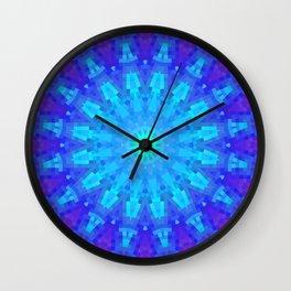 Violet Mandala Mosaic Wall Clock