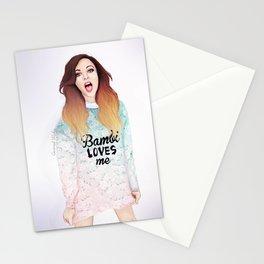 Jade loves Bamby Stationery Cards