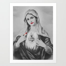 Messy Mary (Black and White) Art Print