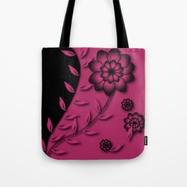 Pink Yarrow Floral Abstract Tote Bag