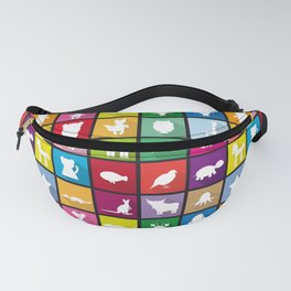 silhouettes of animals Fanny Pack