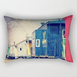 Colorful Train Rectangular Pillow