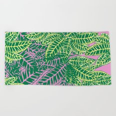 Zebra Plant  Beach Towel
