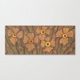 Yellow-eyed flowers Canvas Print