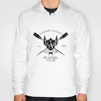 rowing Hoodies featuring Aglionby Rowing Club (black) by cloven