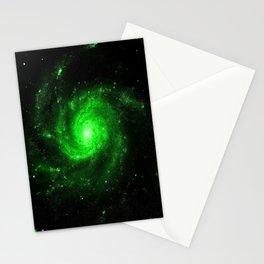 Spiral gAlaXy. Green Stationery Cards