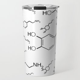 chemical structure for happiness Travel Mug