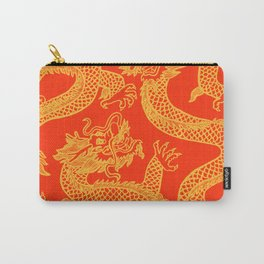 Red and Gold Battling Dragons Carry-All Pouch