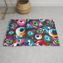 Monster Eyes Party Rug