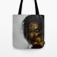 zombie Tote Bags featuring Zombie!!  by Jake Stanton