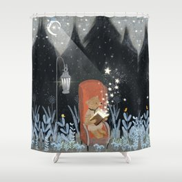 the little book of stars Shower Curtain