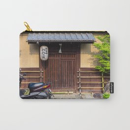 Scooter parked on street in Gion District in Kyoto, Japan Carry-All Pouch