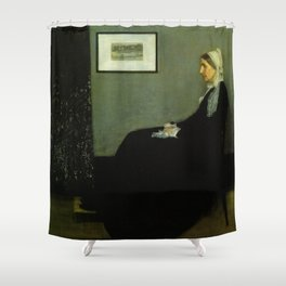 WHISTLERS MOTHER - JAMES ABBOTT MCNEILL WHISTLER Shower Curtain