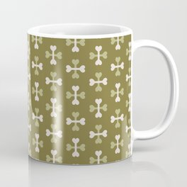 Bone surface pattern (green-white) Coffee Mug