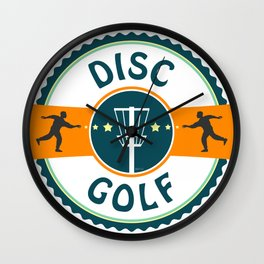 Disc Golf Wall Clock