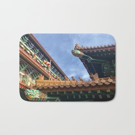 Chinese roof tops Bath Mat