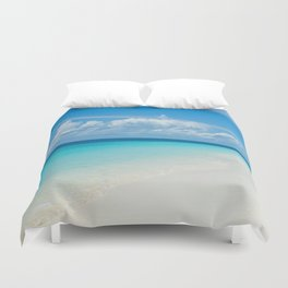 The Maldives' Blue Duvet Cover