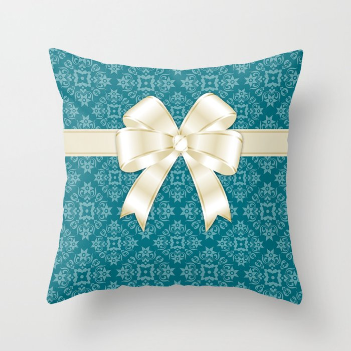With ribbon Throw Pillow