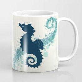 """Seahorse Silhouette"" ` digital illustration by Amber Marine, (Copyright 2015) Coffee Mug"