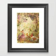 dreaming backward Framed Art Print