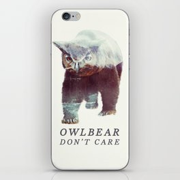 Owlbear (Typography) iPhone Skin