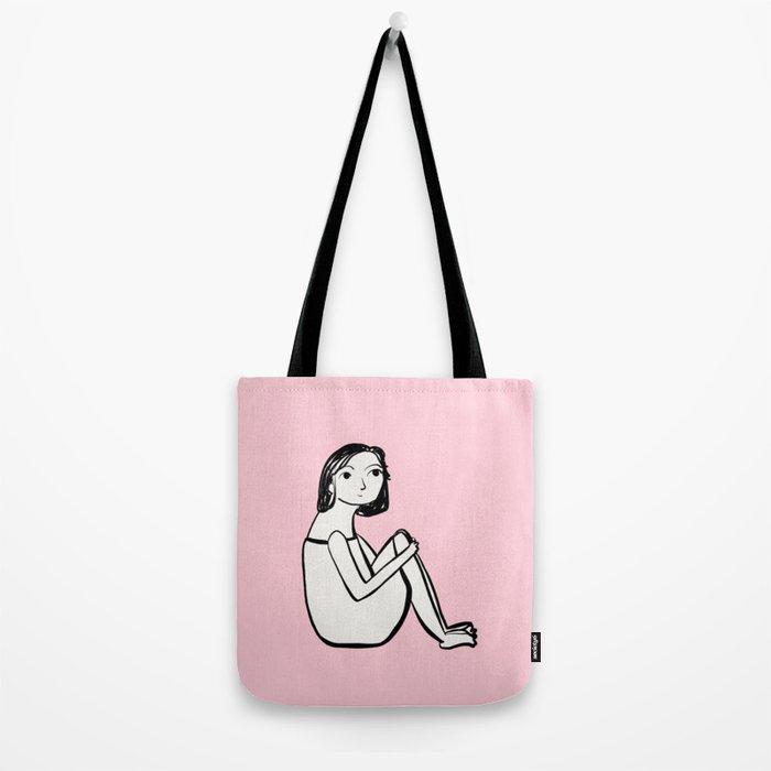 Resting in pink Tote Bag