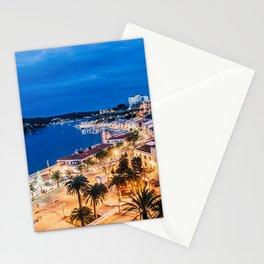Paisaje nocturno del puerto de maó Stationery Cards