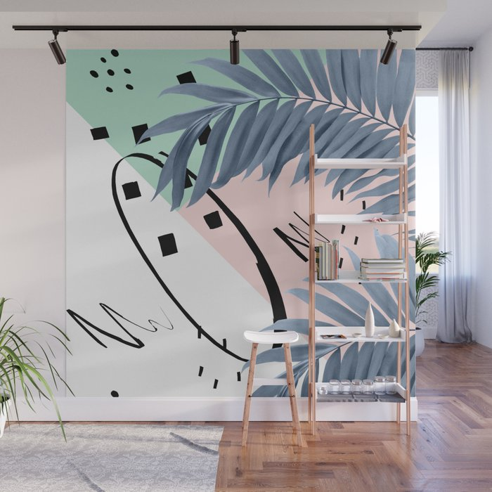 Summer Palms Cali Vibes Abstract Glam #1 #tropical #decor #art #society6 Wall Mural