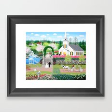 A Walk with My Father Framed Art Print