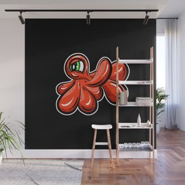 The Blobs - Smirk Red Imaginary Monster Wall Mural