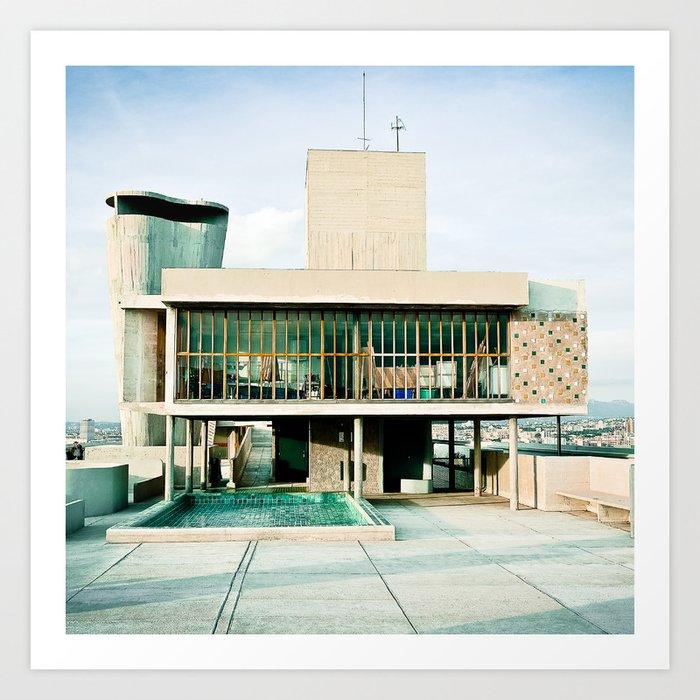 Toit Cité Radieuse - Le Corbusier - Marseille  Art Print