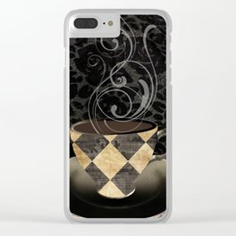 Cafe Noir II Clear iPhone Case