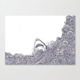 Peeking Shark Canvas Print