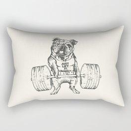 English Bulldog Lift Rectangular Pillow