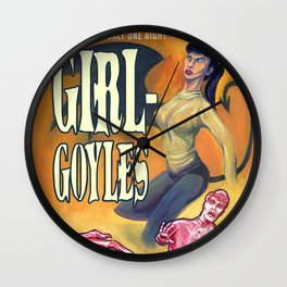 """Girl-Goyles"" Movie Poster Wall Clock"