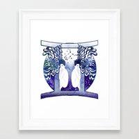 gemini Framed Art Prints featuring Gemini by Stevyn Llewellyn