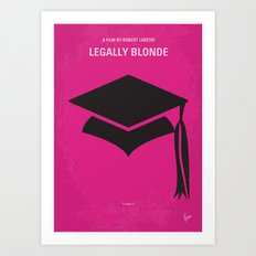 No301 My Legally Blonde minimal movie poster Art Print