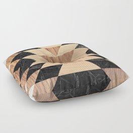 Marble Wood Kilim Floor Pillow