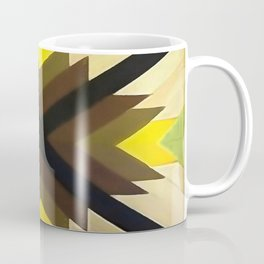 Navaho Vibes Geometric Pattern - Black Brown Yellow Coffee Mug