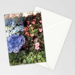 Hydrangeas and Impatiens Stationery Cards