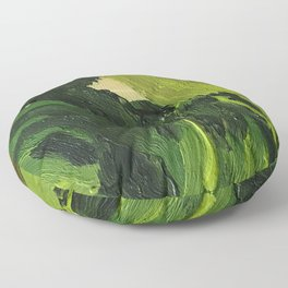 green oil paint camouflage Floor Pillow