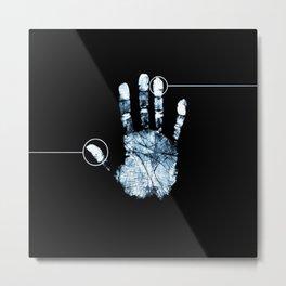 Hand Print Line Metal Print