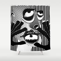 scream Shower Curtains featuring Scream by Paco Dozier